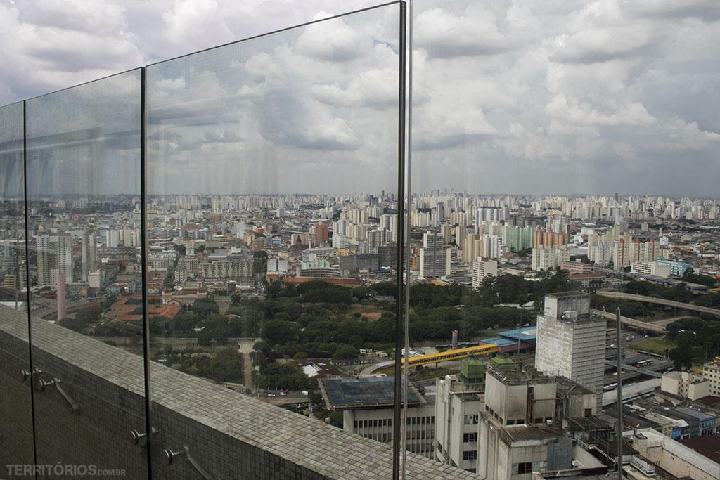 Vista do ponto mais alto do centro de São Paulo