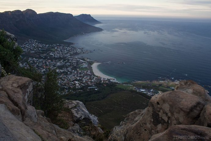 Vista para Cape Town do topo da Lion's Head