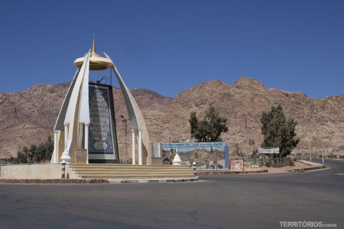 Entrada da vila dos beduínos para o Monte Sinai