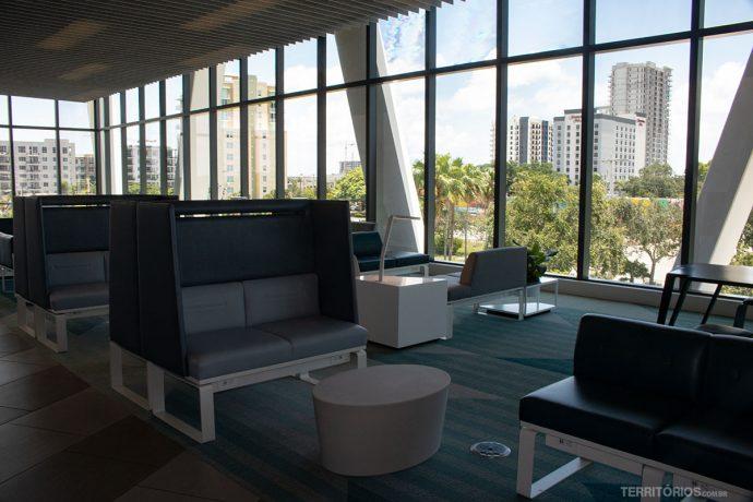 Sala de embarque em Fort Lauderdale