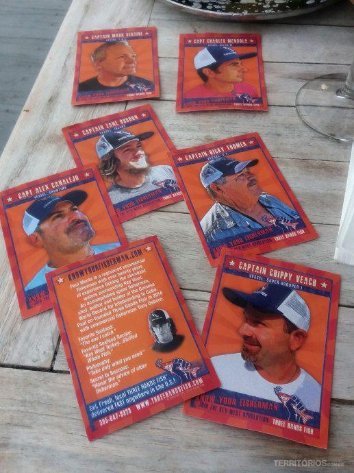 Cartões mostram quem são os pescadores
