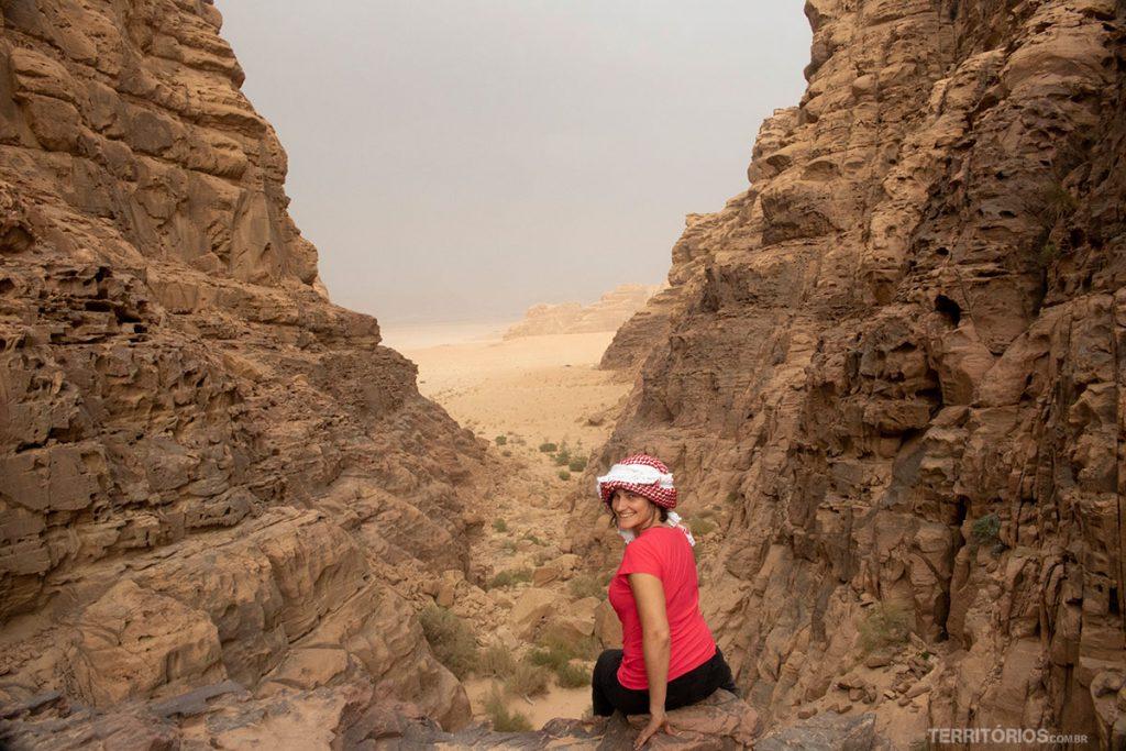 Um dos cenários mais bonitos da viagem fica em Wadi Rum