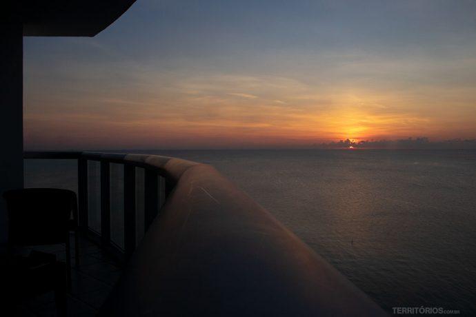 Vista da sacada do Marenas Beach Clube em Sunny Isles