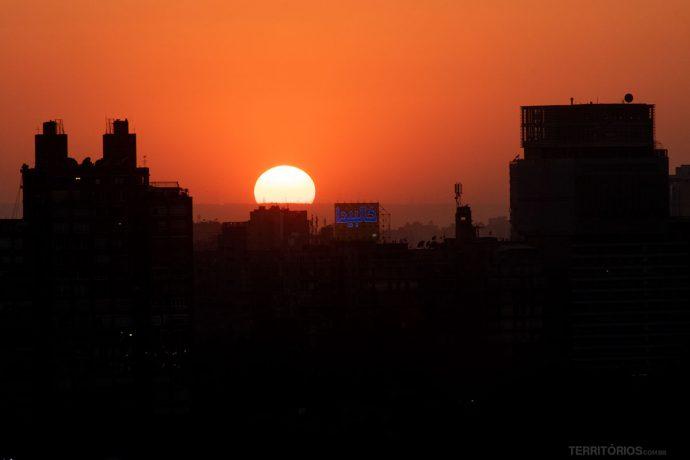 Pôr do sol vista da janela da minha suíte