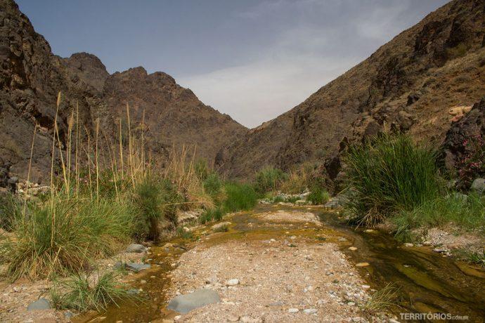 Do outro lado do cânion Wadi El Ghuweir