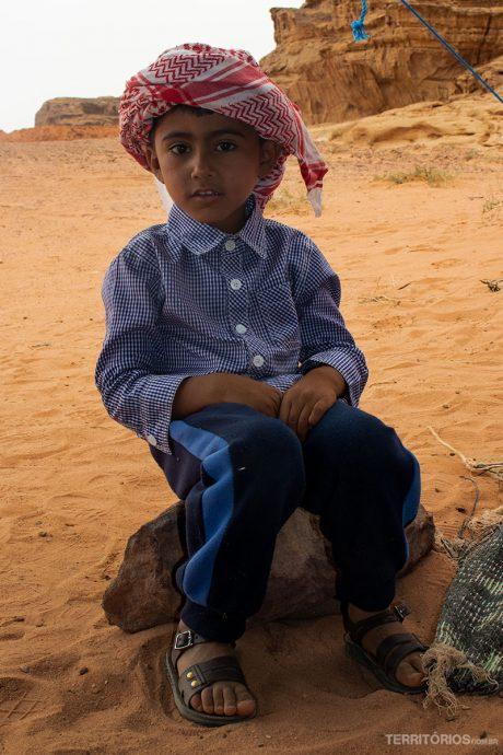 O simpático pequeno beduíno