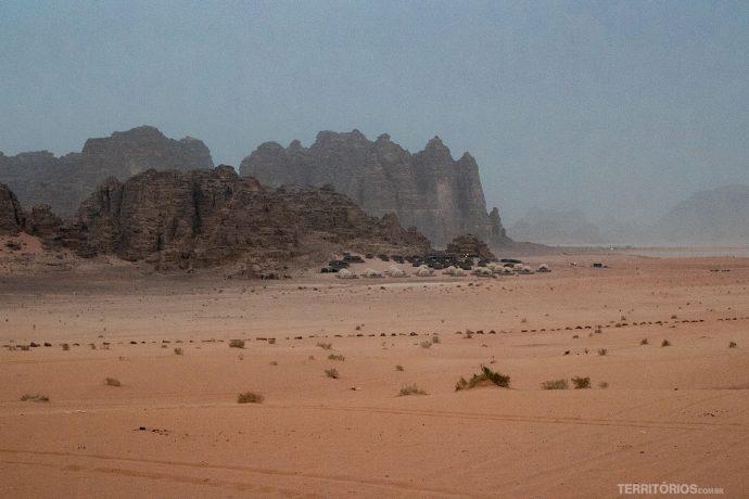 Acampamento de luxo em Wadi Rum