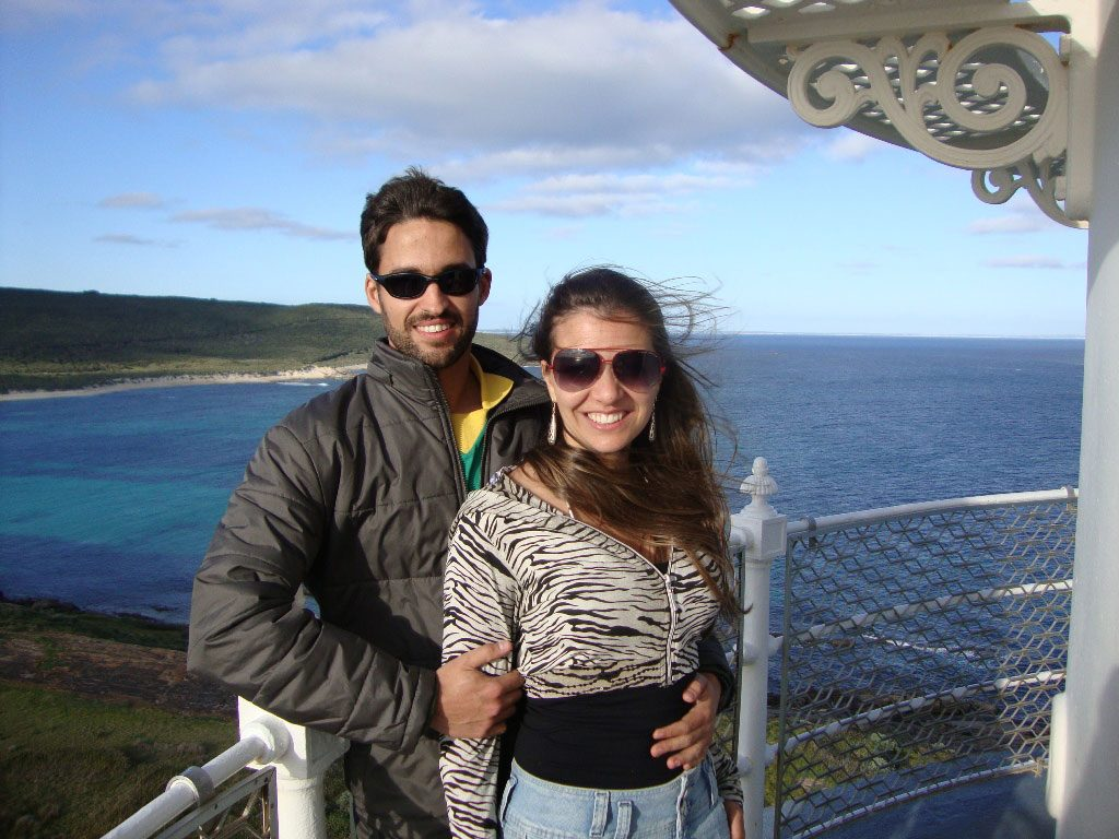 Equipe de viajantes: Leandro Martins e Juliana Gadret