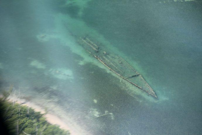 Navio naufragado