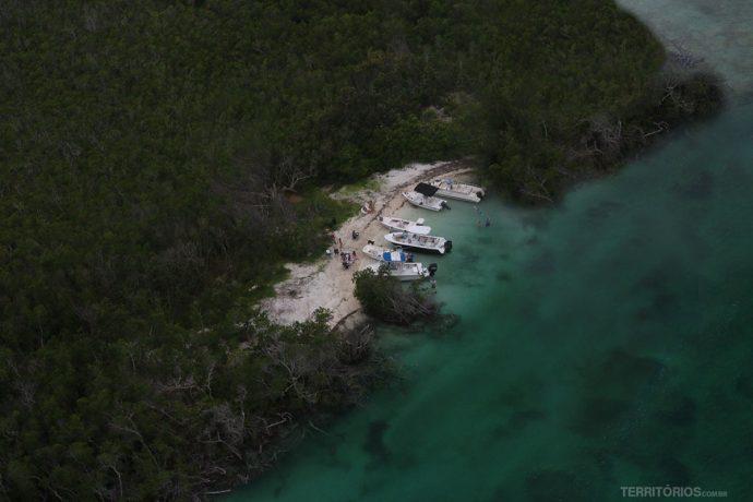 Praia escondida nas Florida Keys