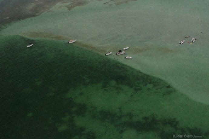 Banco de areia nas Florida Keys