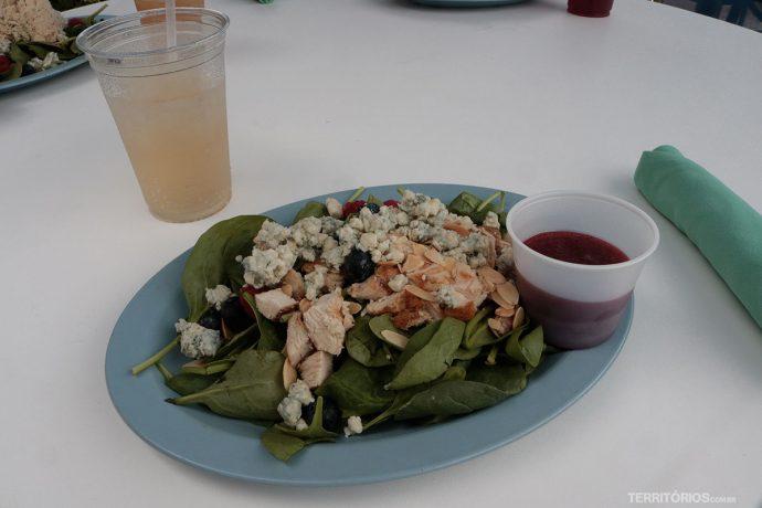 Almoço saudável no spa