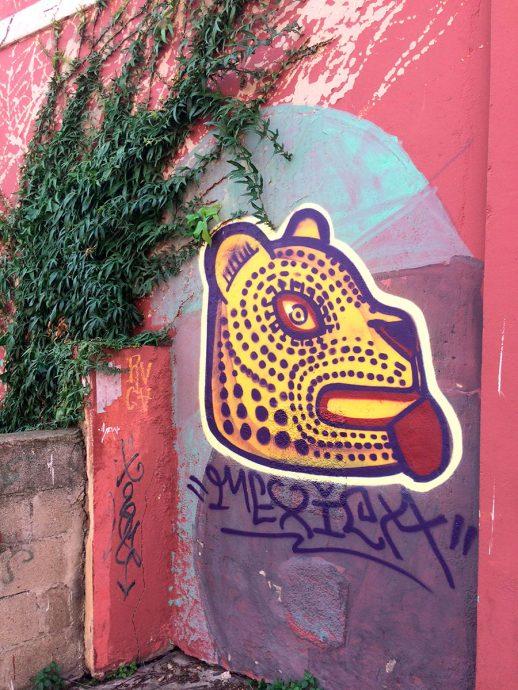 Graffiti da Paula Plim em Valparaíso
