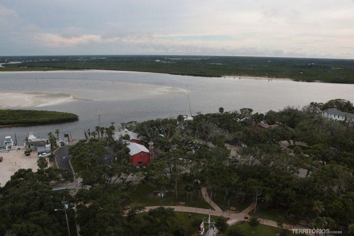 Vista do alto do farol mais alto da Flórida