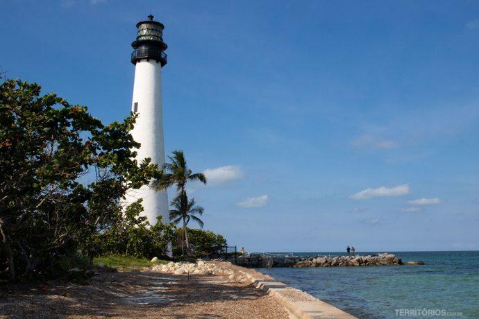 Farol em Key Biscayne fez parte do roteiro em Miami