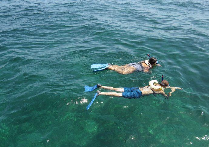 Snorkel na costa leste da Flórida, no Caribe