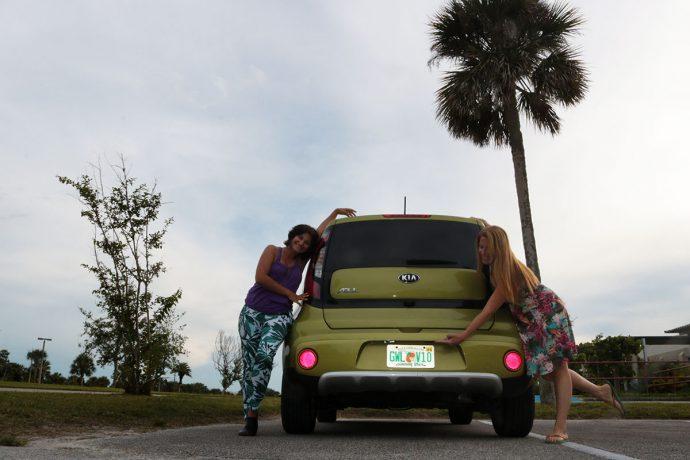Nosso carro alugado para o roteiro pela costa leste da Flórida