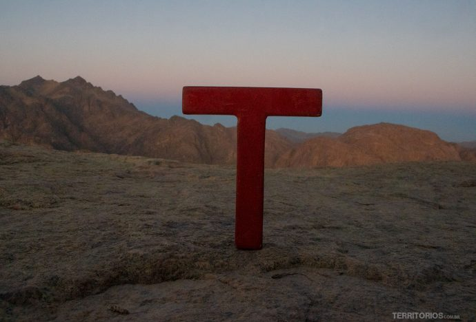 No topo do Monte Sinai