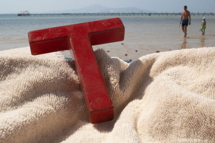 Na praia Sharm El Sheik