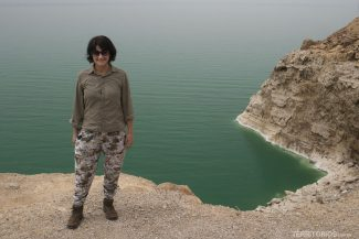 Roberta Martins no Mar Morto, Jordânia