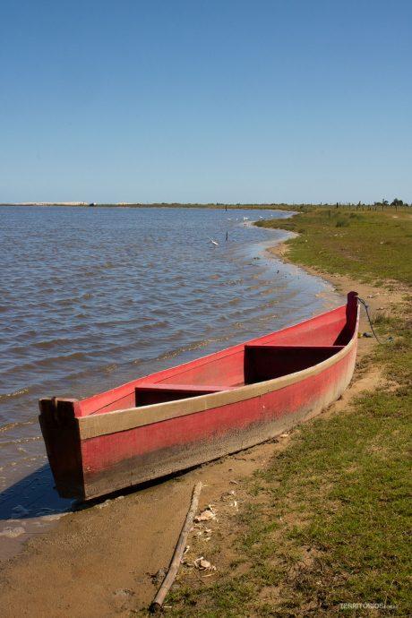Cenário na beira da Lagoa do Peixe