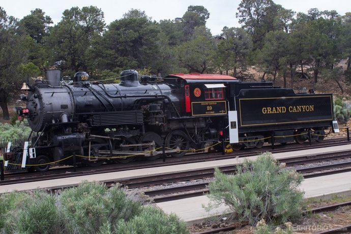 O trem histórico do Grand Canyon