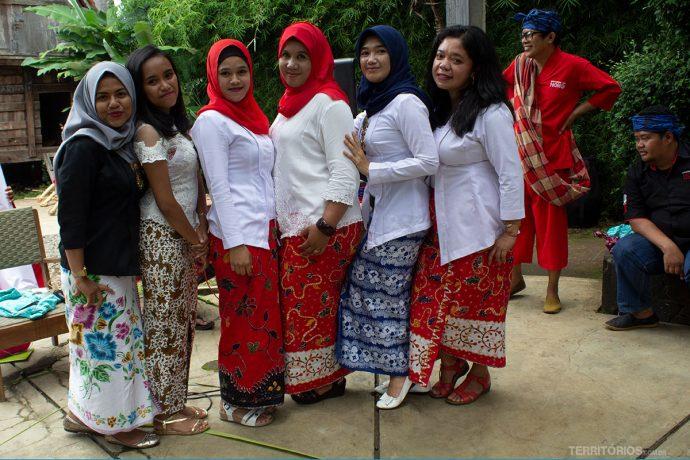 Muçulmanas em Bandung, Java, Indonésia