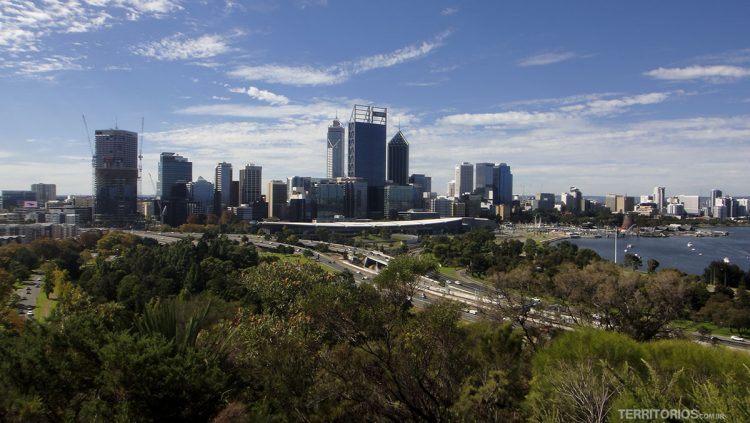 Vista para City do Kings Park, em Perth