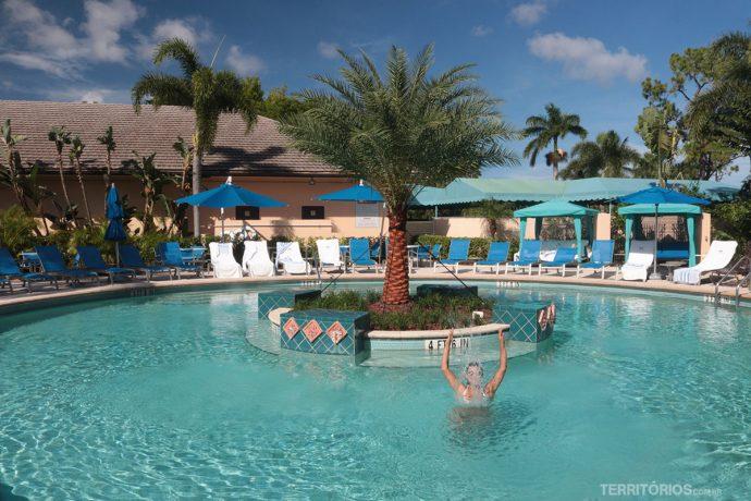 Golfe, piscinas e spa no PGA National  - Dica de onde ficar na Flórida