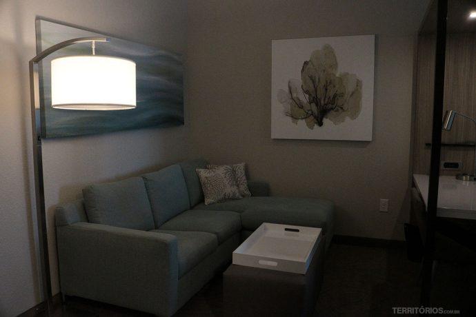 Sala de estar no quarto