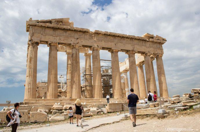 Ruínas do Partenon (século V a.C), templo dedicado a deusa Atena