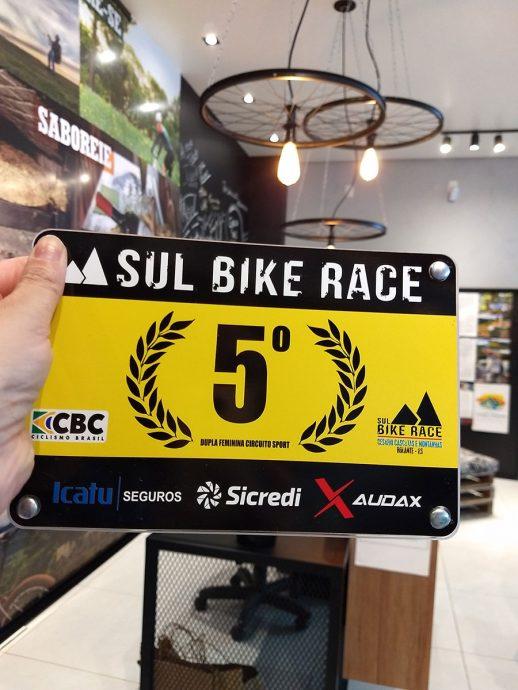 Placa de campeonato de bike