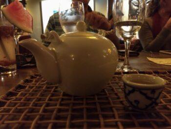 Bule de chá em restaurante