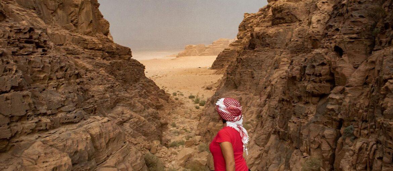 Roberta Martins em Wadi Rum, Jordânia