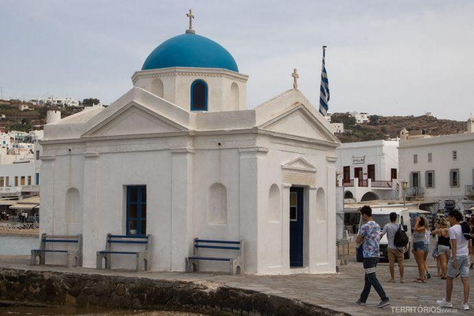 Igreja no centro de Mykonos