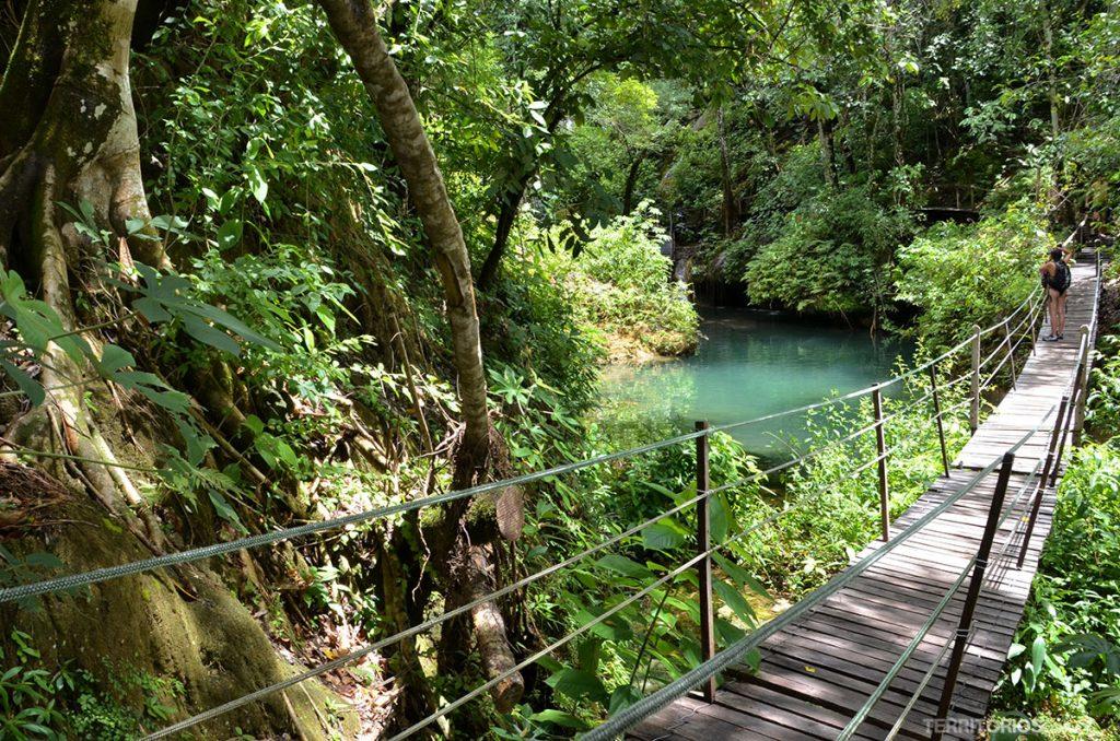 Trilhas entre cachoeiras no Rio do Peixe, em Bonito