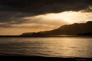 Pôr do sol vale mesmo nublado