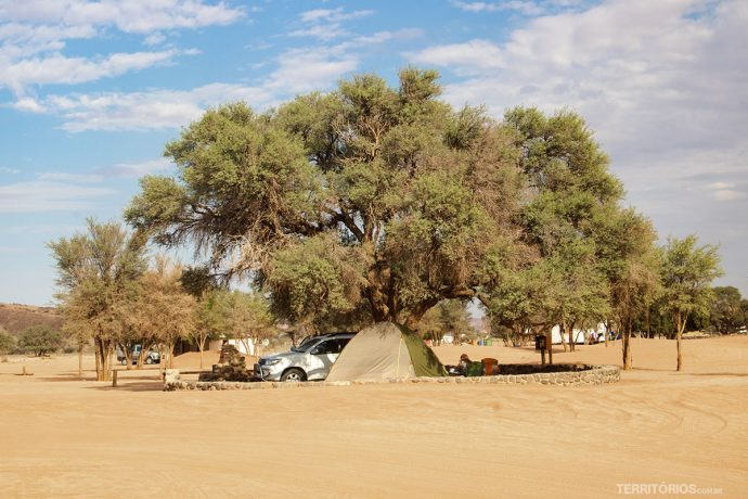 Camping na Namíbia, no Sesriem Camp