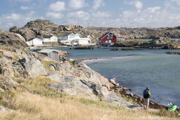 Visual das ilhas no mar de Kattegatt
