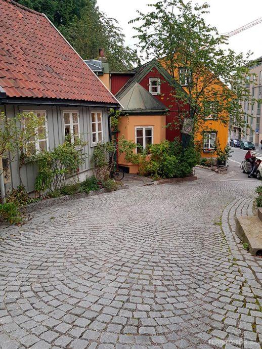 Rua Damstredet, em Oslo