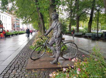 A capital Oslo em modo econômico