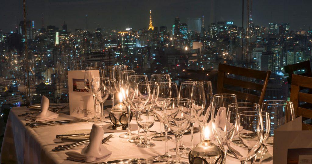 Vista da Sala Panorama no restaurante Terraço Itália (crédito: divulgação)