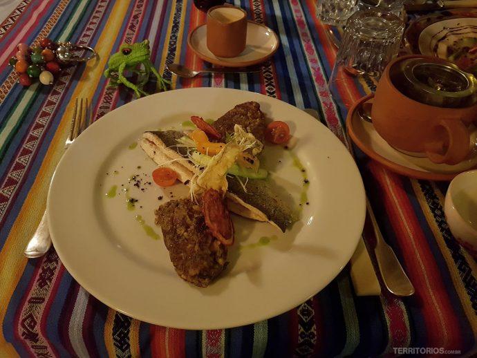 Truta assada é uma das minhas comida peruana preferida