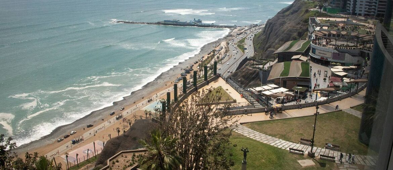 Vista do quarto de hotel em Miraflores