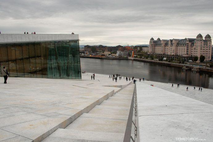 Vista do terraço da Opera de Oslo