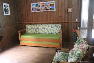 Pousadas na Guarda do Embaú com sofá cama