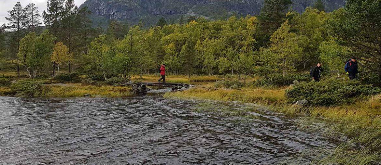Trilha nas montanhas Dalarna