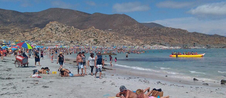 Praia Totoralillo, em Coquimbo