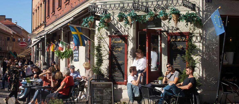 Bar na rua em Gotemburgo