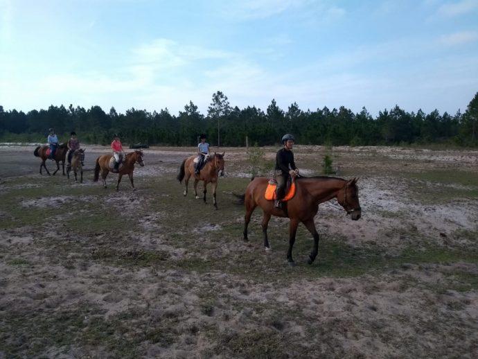 Cavalgada na Guarda do Embaú
